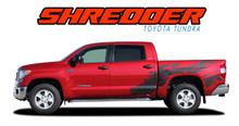 SHREDDER : 2014 2015 2016 2017 Toyota Tundra Crew Max 5.5 ft Short Bed Vinyl Graphic Striping Decal Kit (VGP-3673.74)