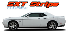 SXT STRIPE : 2011 2012 2013 2014 2015 2016 2017 2018 2019 2020 Dodge Challenger Thin Side Door Factory Style Vinyl Graphic Accent Stripes (VGP-3745)
