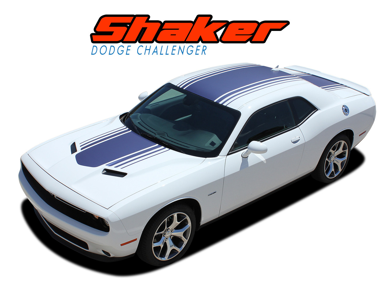 Dodge Challenger New R//T Style Side Stripes Decals 2011 2012 2013 2014 Pro Motor