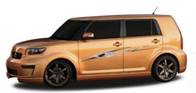 TWIZTED : Automotive Vinyl Graphics - Universal Fit Decal Stripes Kit - Pictured with TOYOTA SCION (ILL-506505)