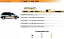 TWILIGHT BOUND Universal Vinyl Graphics Decorative Striping and 3D Decal Kits by Sign Tech Media, Inc. (STM-TW)