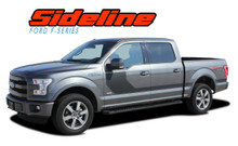 SIDELINE : 2015 2016 2017 2018 2019 Ford F-150 Special Edition Appearance Package Style Door Hockey Stripe Vinyl Graphics Decals Kit (VGP-3823)