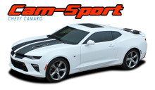 CAM-SPORT : 2016 2017 2018 Chevy Camaro OE Factory Style Vinyl Graphics Racing Stripes Rally Decals Kit for SS RS V6 MODELS (VGP-3959)