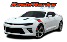 HASHMARK : 2016 2017 2018 Chevy Camaro OEM Factory Lemans Style Hood to Fender Hash Vinyl Stripes Graphics Decals Kit fits SS RS V6 (VGP-3962)
