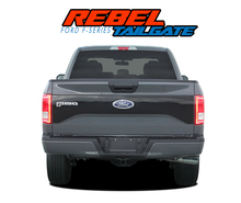 "REBEL TAILGATE : 2015 2016 2017 Ford F-150 ""Rebel Style"" Tailgate Blackout Vinyl Graphic Decal Stripe Kit (VGP-3976)"