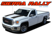 "SIERRA RALLY : 2014 2015 2016 2017 2018 ""Rally Edition Style"" GMC Sierra Vinyl Graphic Decal Racing Stripe Kit (VGP-4019)"