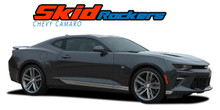 SKID ROCKERS : 2016 2017 2018 Chevy Camaro Lower Rocker Panel Door Stripes Vinyl Graphics Decals Kit fits SS RS V6 All Models (VGP-4055)