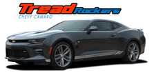 TREAD ROCKERS : 2016 2017 2018 Chevy Camaro Lower Rocker Panel Door Stripes Vinyl Graphics and Decals Kit fits All Models (VGP-4058)