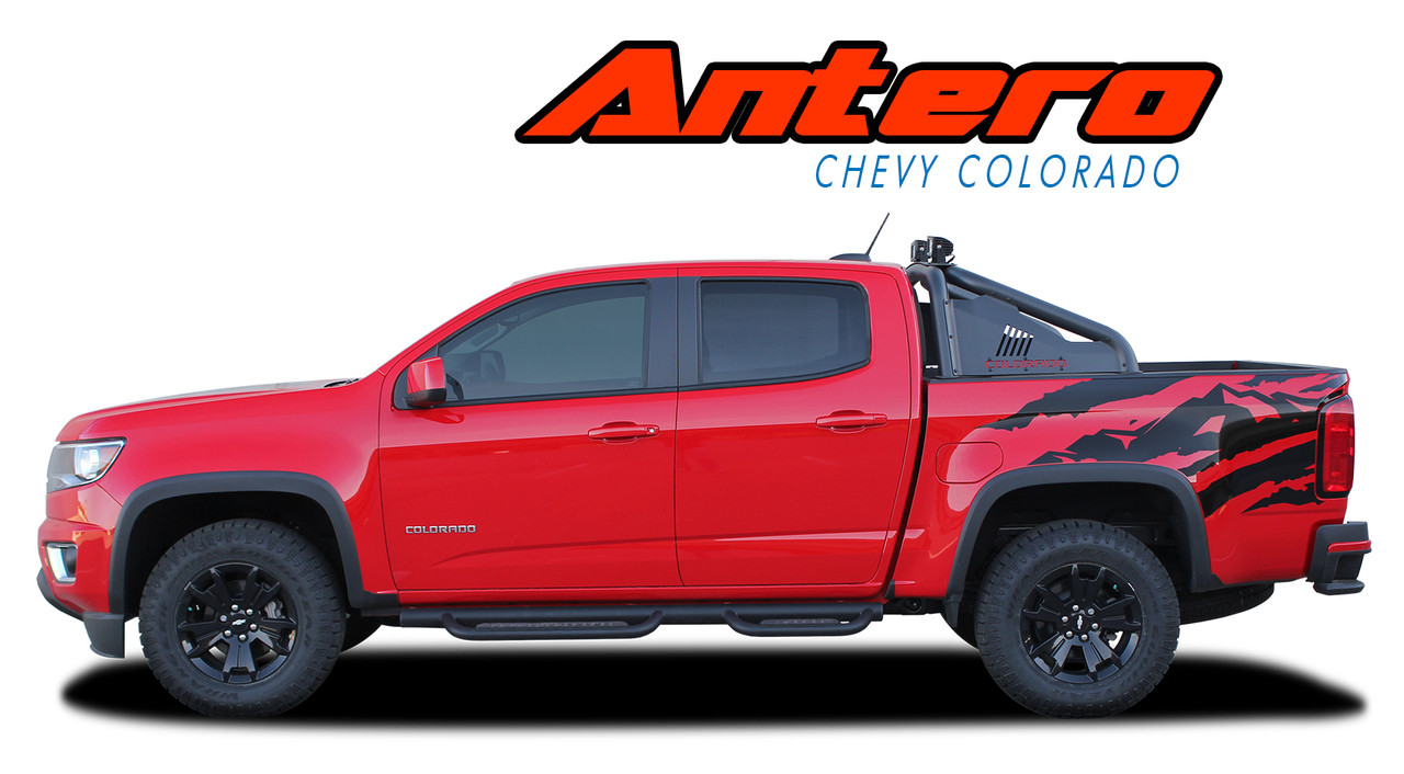 Antero 2015 2016 2017 2018 2019 chevy colorado rear truck bed accent vinyl graphic decal stripe kit vgp 4152