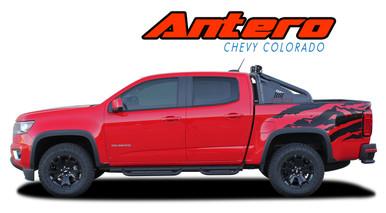 ANTERO : 2015 2016 2017 2018 2019 2020 Chevy Colorado Rear Truck Bed Accent Vinyl Graphic Decal Stripe Kit (VGP-4152)