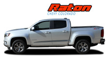 RATON : 2015 2016 2017 2018 2019 Chevy Colorado Lower Rocker Panel Accent Vinyl Graphic Package Factory OEM Style Decal Stripe Kit (VGP-4153)
