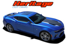 HERITAGE : 2016 2017 2018 Chevy Camaro 50th Anniversary Indy 500 Style Hood Vinyl Graphic Racing Stripes Rally Decals Kit fits SS RS V6 Models (VGP-4200)
