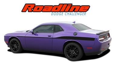 ROADLINE : 2011 2012 2013 2014 2015 2016 2017 2018 2019 2020 Dodge Challenger Wide Upper Door Vinyl Graphics Side Stripes Accent Decals (VGP-4248)