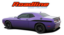 ROADLINE : 2011 2012 2013 2014 2015 2016 2017 2018 2019 Dodge Challenger Wide Upper Door Vinyl Graphics Side Stripes Accent Decals (VGP-4248)