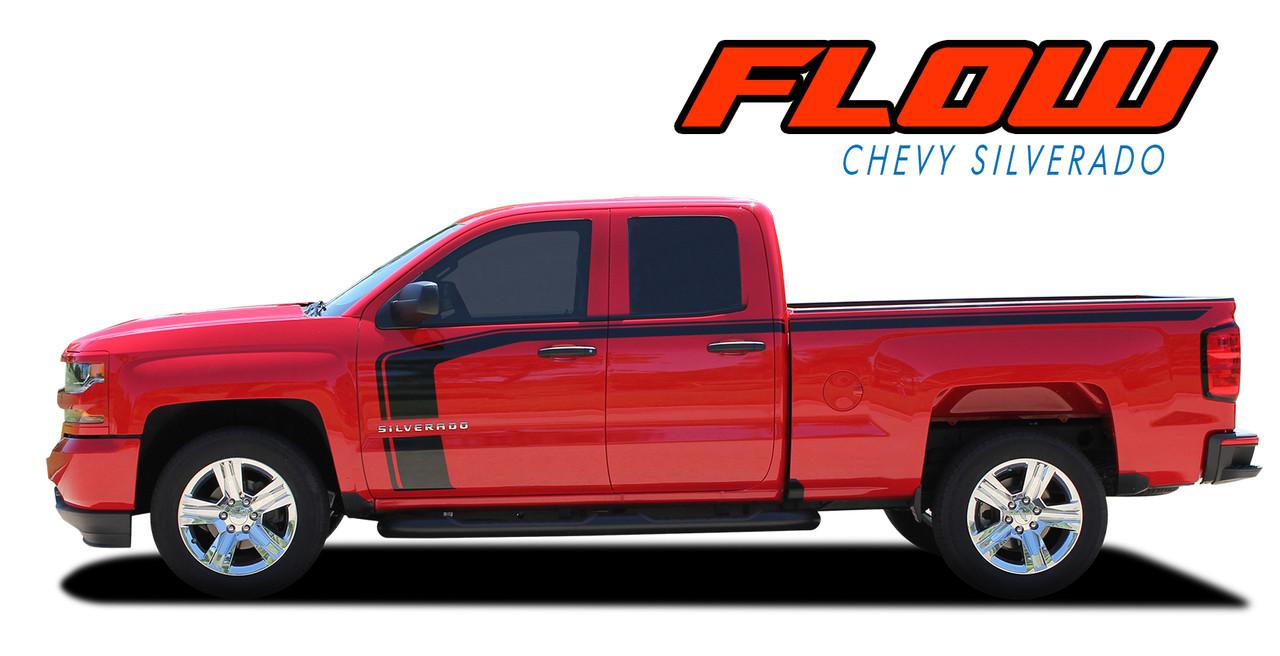 779bb271a1 ... FLOW   2016 2017 2018 Chevy Silverado Special Edition Rally Style Hood  Side Upper Body Hockey ...