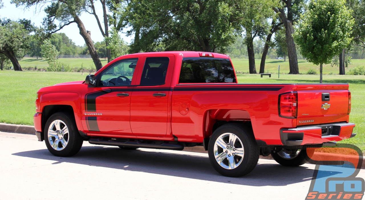 Chevy Silverado Hood Door Stripe Vinyl Graphic Decal ...