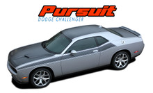 PURSUIT : 2011 2012 2013 2014 2015 2016 2017 2018 2019 Dodge Challenger Wide Upper Door Vinyl Graphics Side T/A 392 Style Stripes Accent Decals Kit (VGP-4504)