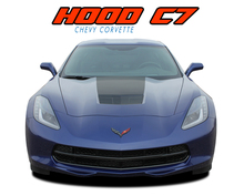 C7 HOOD : 2014 2015 2016 2017 2018 2019 Chevy C7 Corvette Hood Blackout Stripes Vinyl Graphic Decals Kit (VGP-4671)