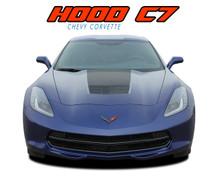 C7 HOOD : 2014 2015 2016 2017 2018 2019 Chevy C7 Corvette Hood Blackout Stripes Vinyl Graphic Decals Kit (VGP-4671)