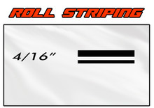 4/16 x 150ft Professional Vinyl Solid Color Accent Stripe Pin Striping Roll (VGP-416)