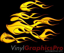 DUELING HOOD FLAMES HOT : Premium Ultra High Resolution Vinyl Graphics by Speed Graphics, Inc (SPEED-DHF-20-KSL)