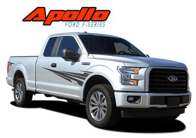 APOLLO 2015 2016 2017 2018 2019 2020 Ford F-150 Side Door Splash Design Stripes Vinyl Graphics and Decals Kit (VGP-4780)
