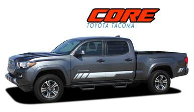 CORE : 2015 2016 2017 2018 2019 2020 Toyota Tacoma Crew Lower Door Rocker Panel Accent Trim Vinyl Graphic Striping Decal Kit (VGP-4829)
