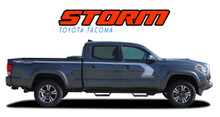 STORM : 2015 2016 2017 2018 2019 2020 2021 Toyota Tacoma Side Door Upper Body Hockey Stick Accent Trim Vinyl Graphic Striping Decal Kit (VGP-4830)
