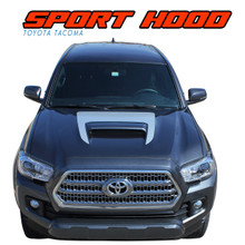 SPORT HOOD : 2015 2016 2017 2018 2019 2020 2021 Toyota Tacoma TRD SPORT and TRD PRO Hood Accent Trim Vinyl Graphic Striping Decal Kit (VGP-4831)