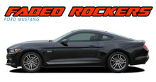 FADED ROCKERS : 2015-2017 Ford Mustang Lower Door Rocker Panel Fade Fading Stripes Vinyl Graphic Decals Kit (VGP-4742.43)