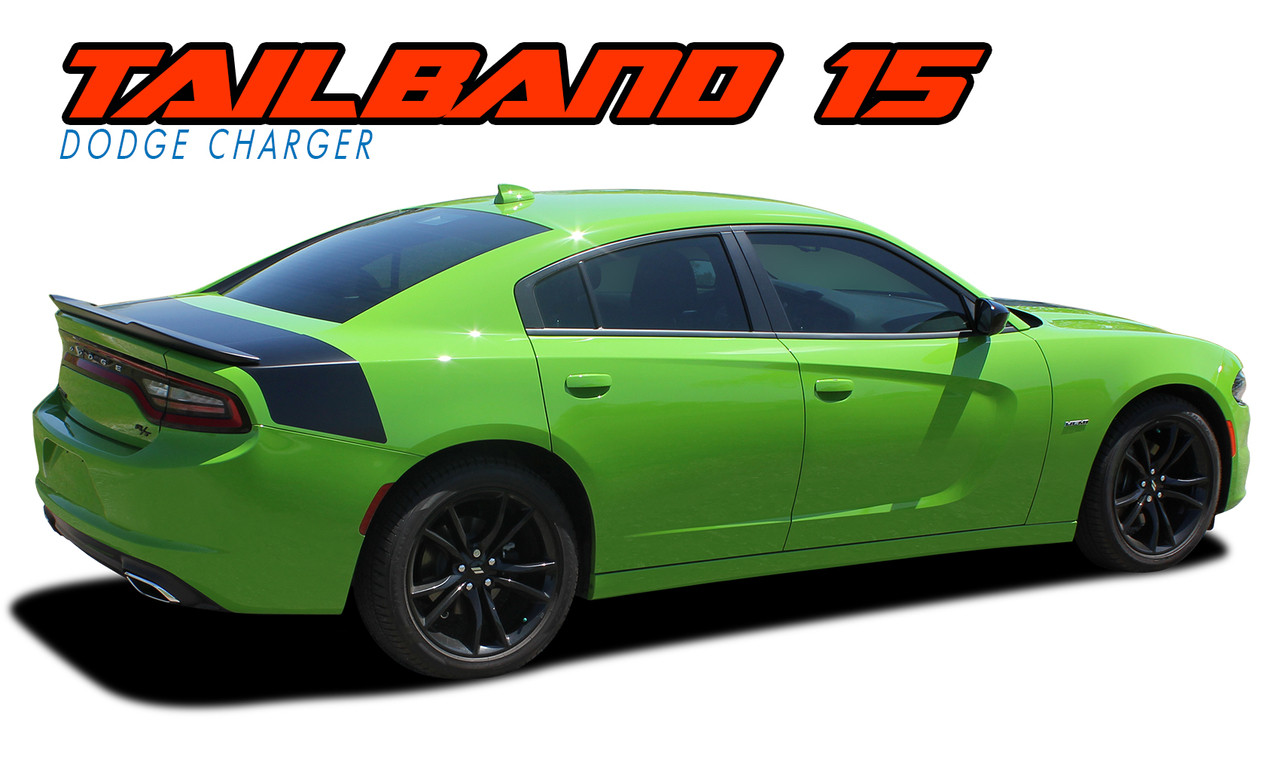 Tailband 15 2015 2016 2017 2018 2019 dodge charger hemi daytona r t srt 392 hellcat mopar blackout style rear decklid trunk vinyl graphics decals kit
