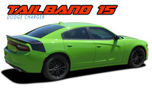 TAILBAND 15 : 2015 2016 2017 2018 2019 2020 2021 Dodge Charger Hemi Daytona R/T SRT 392 Hellcat Mopar Blackout Style Rear Decklid Trunk Vinyl Graphics Decals Kit (VGP-4926)