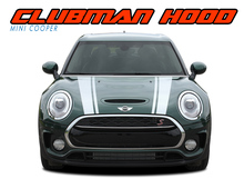 CLUBMAN S-TYPE HOOD : 2016 2017 2018 Mini Cooper Hood Stripes Vinyl Graphics Kit ( VGP-4229)