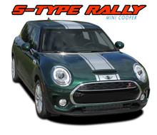 CLUBMAN S-TYPE RALLY : 2016-2018 Mini Cooper Rally Hood Stripes Vinyl Graphics Kit ( VGP-5005)