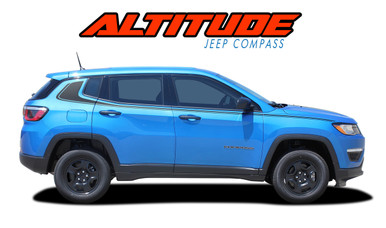 ALTITUDE : 2017-2019 2020 Jeep Compass Lower Rocker Panel Body Door Vinyl Graphics Decal Stripe Kit