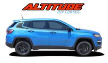 ALTITUDE : 2017-2019 Jeep Compass Lower Rocker Panel Body Door Vinyl Graphics Decal Stripe Kit