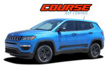 COURSE : 2017 2018 2019 2020 2021 Jeep Compass Lower Rocker Panel Body Door Vinyl Graphics Decal Stripe Kit (VGP-5062)