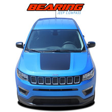 BEARING SOLID : 2017 2018 2019 2020 2021 Jeep Compass Hood Vinyl Graphics Decal Stripe Kit (VGP-5066)