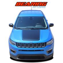 BEARING VOID : 2017-2020 Jeep Compass Hood Vinyl Graphics Decal Stripe Kit (VGP-5065)