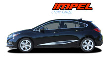 IMPEL : 2016 2017 2018 2019 Chevy Cruze Rocker Stripes Vinyl Graphics Decal Door Kit (VGP-5107)