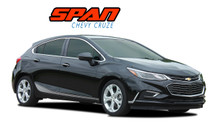 SPAN : 2017-2019 Chevy Cruze Lower Rocker Stripes Vinyl Graphics Decal Door Kit (VGP-5108)