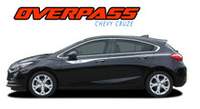 OVERPASS : 2017-2019 Chevy Cruze Upper Door Accent Stripes Vinyl Graphics Decal Door Kit (VGP-5104)