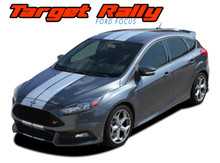 TARGET RALLY : 2016 2017 2018 Ford Focus Racing Stripes Vinyl Graphics Decals Kit (VGP-5231)