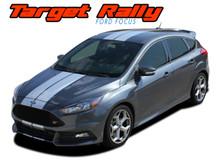 TARGET RALLY : 2016 2017 2018 Ford Focus Racing Stripes Vinyl Graphics Decals Kit (VGP-5231)