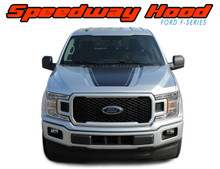 SPEEDWAY HOOD : 2015-2019 2020 Ford F-150 Special Edition Appearance Package Blackout Vinyl Graphics Decals Kit (VGP-5240)