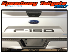 SPEEDWAY TEXT INLAYS : 2018 2019 Ford F-150 Rear Tailgate Text Vinyl Graphics Decals Kit (VGP-5247)