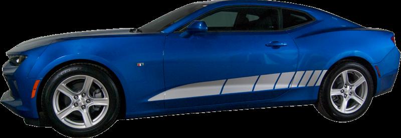 ffce9f6805fd38 2016-2018 Chevy Camaro Stripe Bullet Strobe Rocker Vinyl Graphic Decal Kit  (GRC82)
