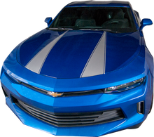 2016-2018 Chevy Camaro Stripes Hood Spears with Pin Outline Vinyl Graphic Decal Kit (GRC92)