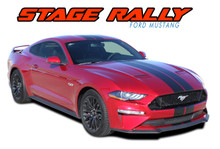 "STAGE RALLY : 2018 2019 2020 2021 Ford Mustang Stripes Lemans Style 7"" Wide Racing Rally Stripes Vinyl Graphics Kit (VGP-5376)"
