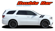 DURANGO DOUBLE BAR : 2011-2020 2021 Dodge Durango Hood Hash Marks Stripes Decals Vinyl Graphics Kit (VGP-5543)